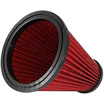 178 mm Height; 5.406 in 120 mm 137 mm Spectre Performance HPR9831 Universal Clamp-On Air Filter: Round Tapered; 4 in Flange ID; 7 in Base; 4.719 in 102 mm Top