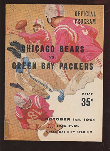 October 1 1961 NFL Program Chicago Bears At Green Bay Packers ()