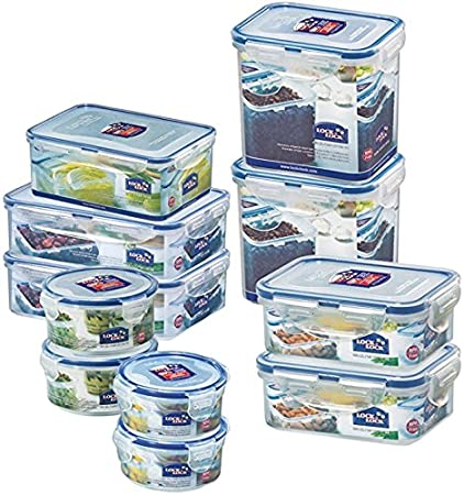Lock U0026 Lock Water Tight Food Containers, 22 Piece Set