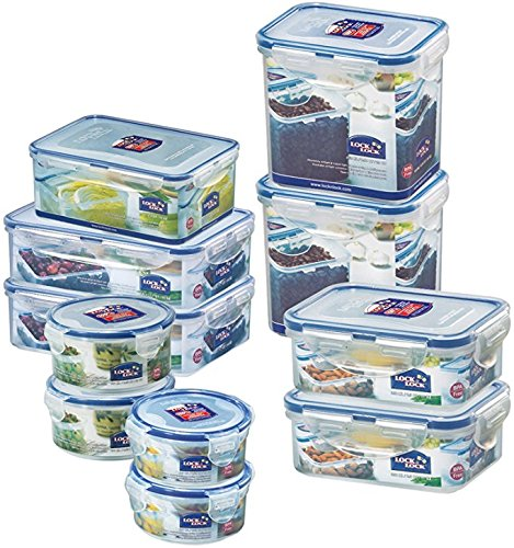 Lock & Lock Water Tight Food Containers, 22-Piece Set