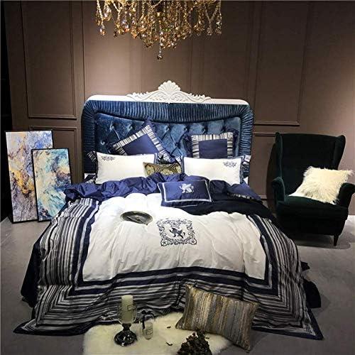 100Sエジプト綿オリエンタル刺繍寝具セットクイーンキングサイズ4ピースベッドシーツセット布団カバー(紫、女王4ピース)