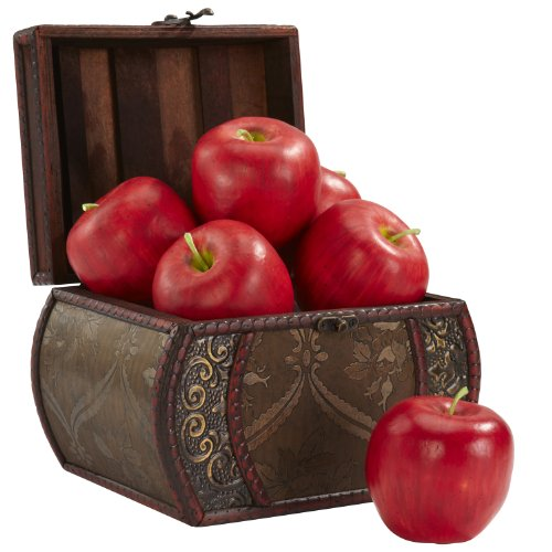 Nearly Natural 2139 Decorative Faux Apple, Red, Set of 6
