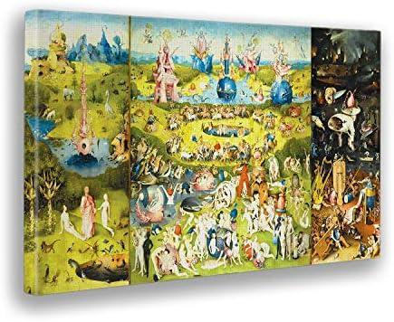 Giallobus - Cuadro - Hieronymus Bosch El Jardin de Las delicias -Imprimir en Lienzo - Listo a Colgar - Pinturas Modernas para decoración casa diseño - Dormitorio - Varios Tamaños - 100x60 cm: Amazon.es: Hogar
