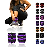 Xn8 Sports Ankle Weights Velcro Adjustable Resistant 0.5kg 0.75kg 1kg 1.5kg 2kg 2.5 kg 3kg 4kg 5kg Leg Wrist Strap Running Cross Fitness Gym Training Exercise (Purple, 1.5Kg Pair = (1.5 x 2 = 3Kg))