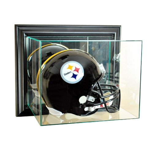 Perfect Cases NFL Wall Mounted Football Helmet Glass Display Case, Black (Best Football Helmet Ever)