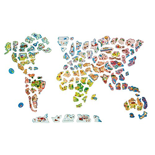 Ts shure wooden magnetic world map puzzle buy online in uae save gumiabroncs Images