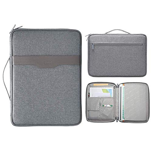 (A4 Document File Organizer Bag Portable Travel Portfolios Folder Carrying Case Travel Gear Organizer for Papers Life Work Planner Pens Phone)