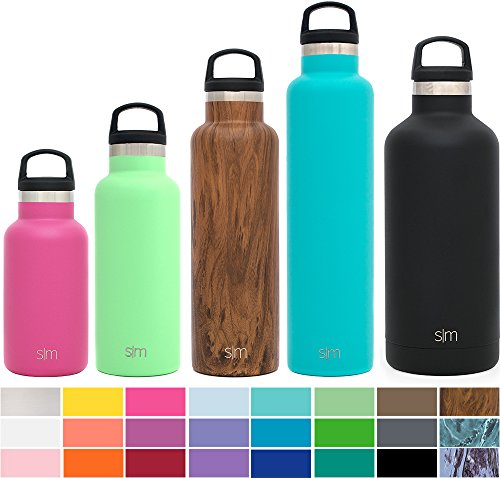Simple Modern 12 Ounces Ascent Kid's Water Bottle - Vacuum Insulated Standard Mouth Leak Proof 18/8 Stainless Steel Pink Swell Flask - Double Wall Hydro Travel Mug - Cotton Candy