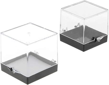 perfeclan Vitrina Transparente A Prueba De Polvo De 2 Piezas para La Colección De Rocas Y Minerales: Amazon.es: Juguetes y juegos