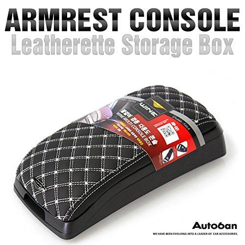 Armrest Center Console Storage Box Leatherette (White) For Hyundai 2013-2015 Santa Fe Dm
