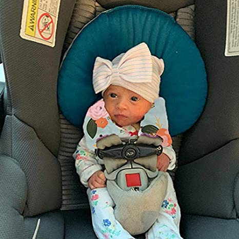 Shoulder Strap Protectors Baby Neck Pad Protector Baby Car Seat Neck Cover Car Seat Strap Cover Seat Belt Cushions Pads Reversible Pram Harness Covers in Minky Floral