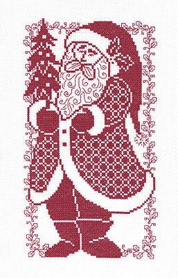 Santa Silhouette Cross Stitch Chart