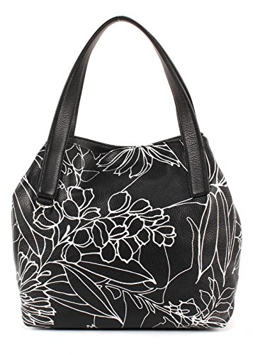 COCCINELLE Mila Garden Pop Shoulderbag Nero / Silver