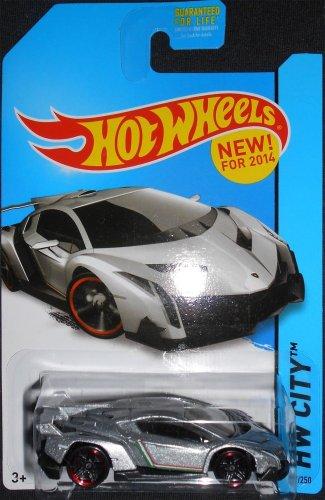 Hot Wheels 2014 Hw City 37 250 Lamborghini Veneno Silver Buy Online In Uae Toys And