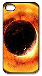 discount covers space fantasy sun planet PC Black Case for iphone 4/4S