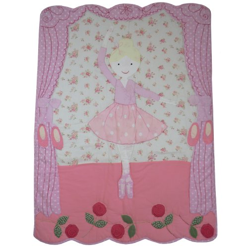 100-cotton-patchwork-stitched-cot-quilt-wrap-102x76cms-powell-craft-ballerina-by-powell-craft