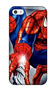 Flexible Tpu Back Case Cover For Iphone 5/5s Spider-man