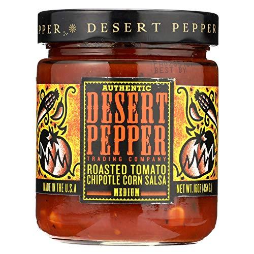 Desert Pepper Roasted Tomato Chipotle Corn Salsa, 16 Oz - 6 Per Case.