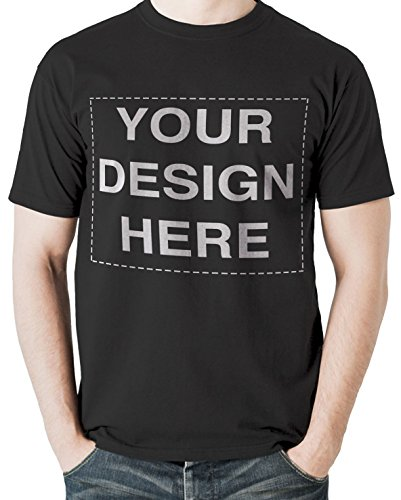 Custom Tshirts Design Your Own Text or Image Adult Unisex T-Shirt (XX-Large, Black)