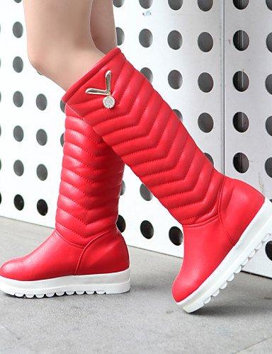 Punta Uk4 5 Uk6 5 Oficina Botas De Trabajo negro Rojo us8 Redonda Plataforma Black Mujer Eu36 Semicuero Xzz Casual Cn36 Y us6 Zapatos Vestido Eu39 Red Nieve Cn40 xgHAw4FYq