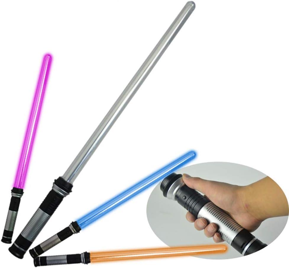 2 Piezas de la luz Espada, niños telescópica Intermitente Cosplay de la Espada Luminosa Juguete de la luz del palillo de niños de Juguete Muchachos del Regalo