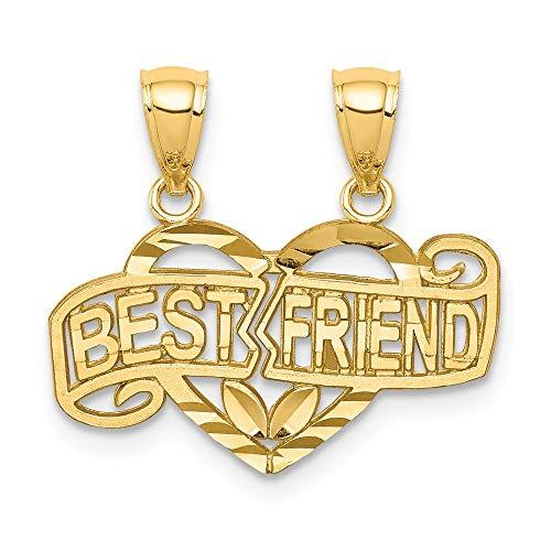 14k Break-apart Best Friend Pendant