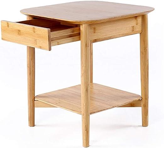 Mesa de Centro de Cuatro Patas de bambú con cajones 2 Espacio de ...