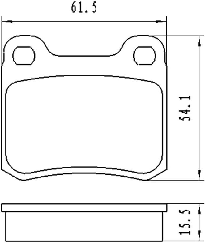 Hinterachse f/ür 190 C-Kl Coupe E-Kl BB08197 Bremsbelagsatz Scheibenbremse