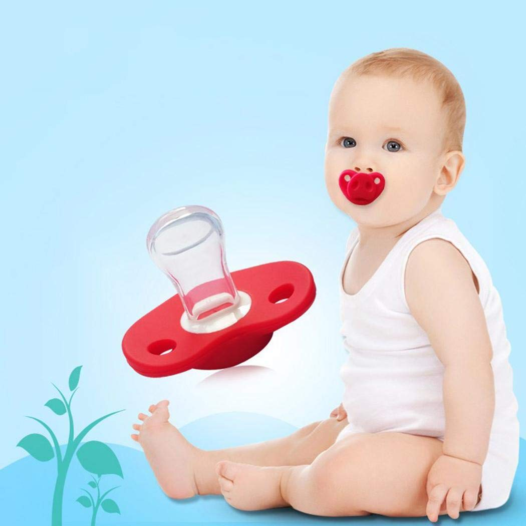 Ladiy New Baby Infant Silicone Gel Cartoon Pig Nose Shape Safety Pacifier Pacifiers