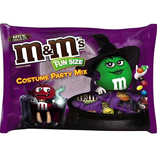 M&M's Halloween Costume Party Fun Size Bag, Milk Chocolate, 19.07 Ounce (Pack of 12) - Butters Costumes