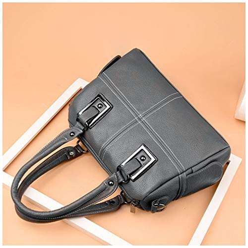 Handbag Crossbody Bags Grey Leather PU Women 32x12x22 Black xt7d1