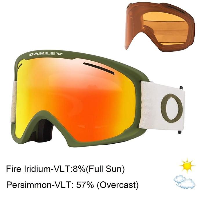 Gafas de esquí Oakley con cristales naranja neón