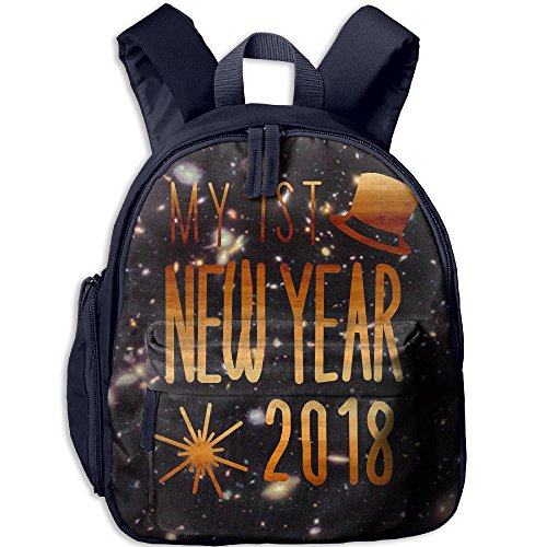 My Ist New Years Eve School Backpacks For Boys Girls Cute Bookbag Outdoor Daypack Colorkey