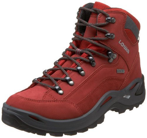 Lowa Women's Renegade GTX Mid Hiking Boot,Red,7 M US Lowa Red Shoes