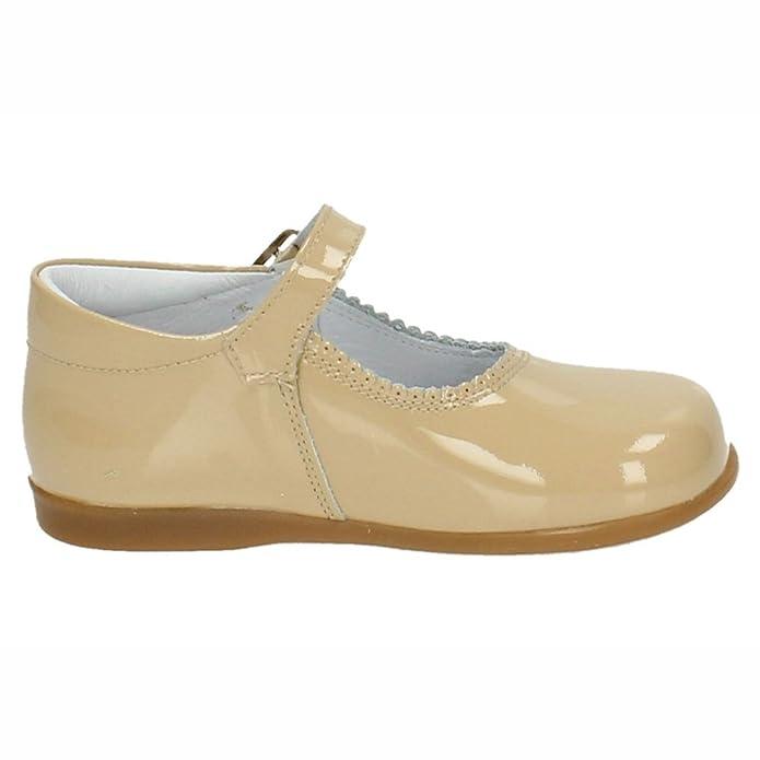 87591b80dd BAMBINELLI 1490825 MERCEDES PIEL CHAROL NIÑA MERCEDITAS CAMEL 25:  Amazon.es: Zapatos y complementos