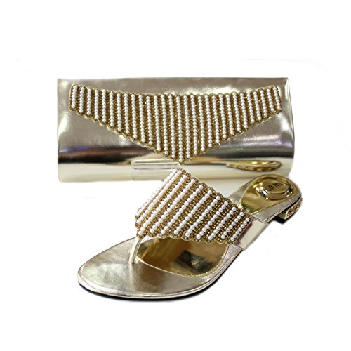 Wear & Walk UK - Cartera de mano para mujer Dorado - dorado