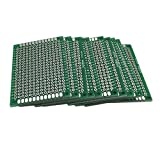 McIgIcM Prototype pcb,10pcs 4X6CM Double-side Prototype PCB Board Kit Universal Printed Circuit Board 4x6cm