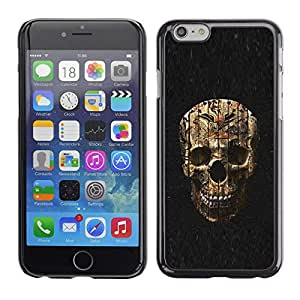 Eason Shop / Hard Slim Snap-On Case Cover Shell - Skull Evil Halloween Death Metal - For Apple Iphone 6