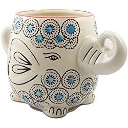 Happy Sales Hand-Painted Elephant Coffee Mug