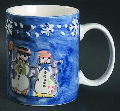 Tabletops Unlimited Snow Couple Mug 12 -