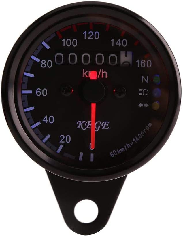 Lcd Digital Tachometer Speedometers Odometer Black 1pc