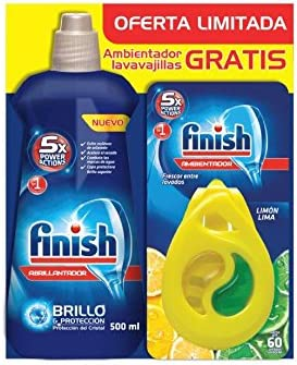 Finish Lavavajillas Abrillantador Regular, más Ambientador para ...