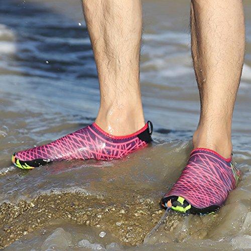 Ivao Scarpe Da Acqua Unisex Quick Dry Aqua Skin A Piedi Nudi Per Nuotare, Kayak, Pesca, Spiaggia, Surf, Guida In Rosa