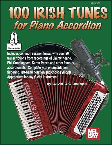 100 Irish Tunes For Piano Accordion David Digiuseppe 9780786692330