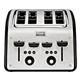 T-Fal TT7708CA Maison 4-Slice Stainless Toaster, Silver