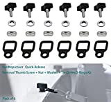 jeep bolts for hard tops - EnRand Universal Jeep Wrangler HardTop/Trunk/Cargo Cover Quick Removal Fastener Thumb Screw with Nut Washer and Tie-Down D-Rings Kit Fits YJ TJ JK JKU Sports Sahara Freedom Rubicon X Unlimited X