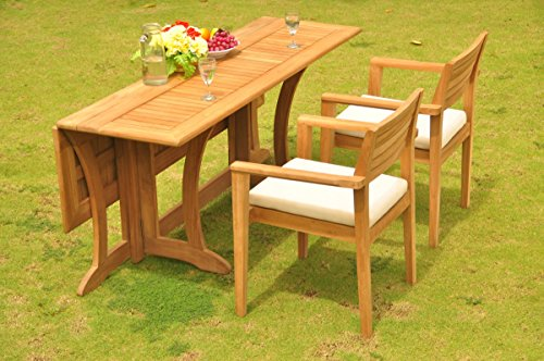TeakStation 2 Seater Grade-A Teak Wood 3 Pc Dining Set: 69