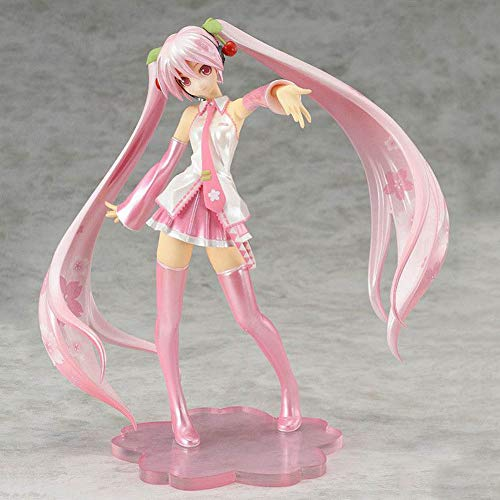 HomMall Anime Hatsune Miku PVC Action Dolls Collection Figure Manga Toys, 6 Inches( - Figure Pvc Pink