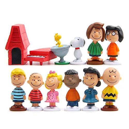 Characters From Charlie Brown - LW 12 pcs Lovely Animal Characters