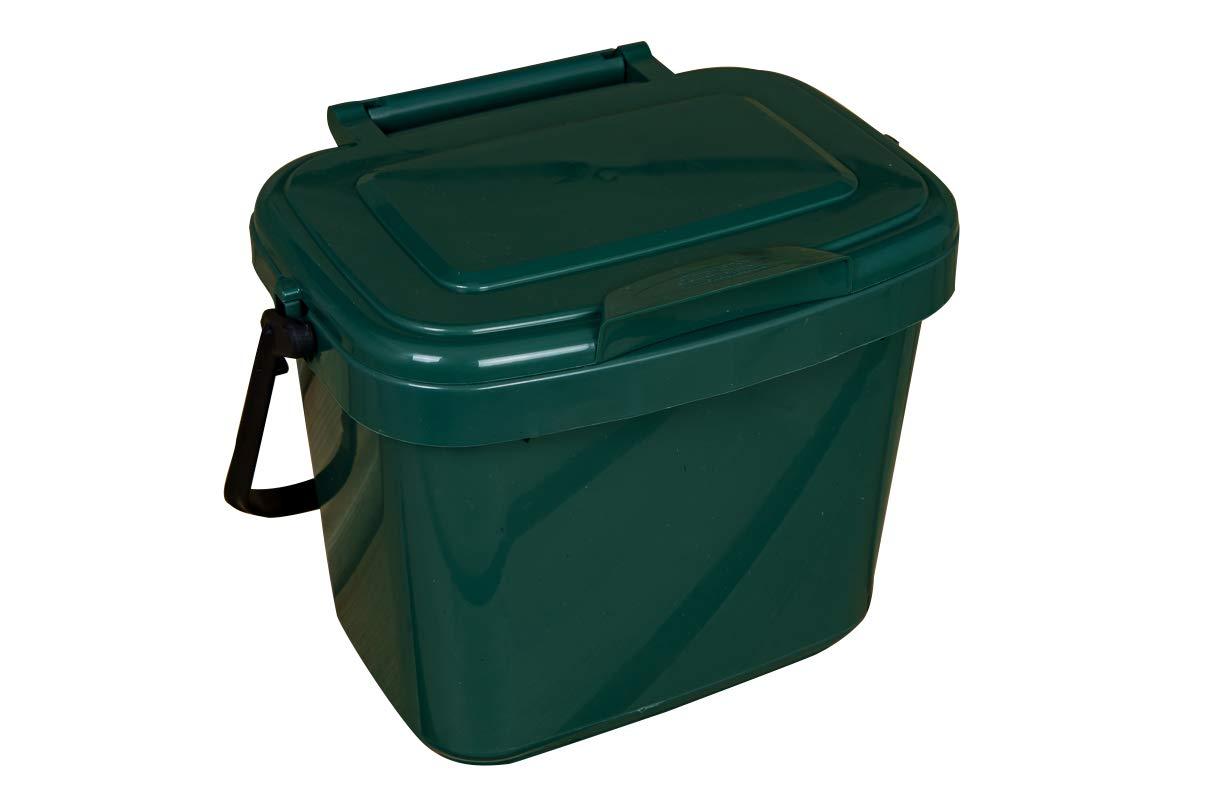 Von buttacup®, 5Liter Küchen Caddy/innen Kompost Material Abfälle Collection Abfalleimer (Farbe: dunkelgrün) Von buttacup®